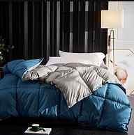 一床可過冬 10斤,美布 羽絲絨加厚冬被 2.2x2.4m