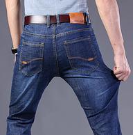 2条,加绒,比单层还便宜:潮皓 男士牛仔裤