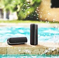 续航12小时+IPX5级防水,Sony 索尼 SRS-XB22 重低音无线蓝牙音箱 黑色