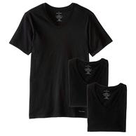 三倍差價 棉質速干:Calvin Klein/卡爾文·克萊恩 3件套裝 男式經典修身V領T恤