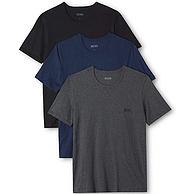 M碼值哭!HUGO BOSS雨果·博斯 男士純棉圓領T恤 3件裝
