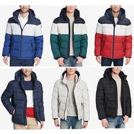 第135期團購、耐寒-7℃無壓力、有小碼:Tommy Hilfiger 湯米希爾費格 經典配色男款連帽羽絨服