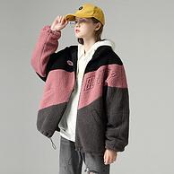 雙12預售:Toyouth/初語 立領寬松雜色拼接刺繡保暖棉衣