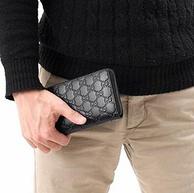 双12预告:GUCCI/古驰 Signature系列 男士压纹logo拉链长款钱包