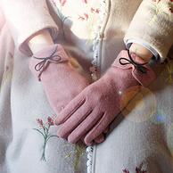 支持触屏,羊毛混纺:南极人 加绒保暖分指手套