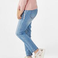 北美第一童装品牌, 绮童堡 19新款 花边百搭牛仔裤