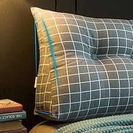 如玉家纺 三角全棉护脊床头靠枕