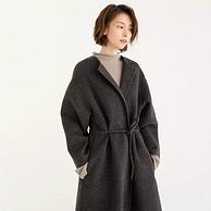第22次国内团、3倍差价+纯羊毛+阿玛尼同产线:考拉工厂店 系带纯羊毛双面呢大衣