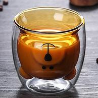 朗特樂 創意雙層防燙可愛小熊杯 透明玻璃杯 200ml
