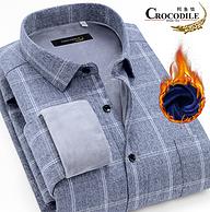 37款可选 加绒加厚:鳄鱼恤 男士磨毛长袖衬衫