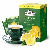 英国进口,0糖0脂:2gx60片 Ahmad tea亚曼茶 柠檬绿茶茶包