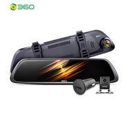 前后雙攝+倒車影像+停車監控:360 行車記錄儀 M301