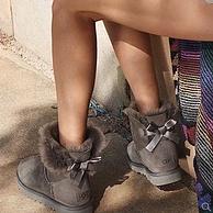 UGG Mini Bailey Bow II 女士防水防污蝴蝶结短筒雪地靴 多色