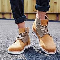 6日0點,商場同款:Levi's/李維斯 男士 高幫英倫復古馬丁靴