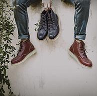 京造 男士透氣牛皮馬丁靴