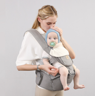四季通用,解放双手:2件 贝能 前抱式多功能婴儿腰凳背带