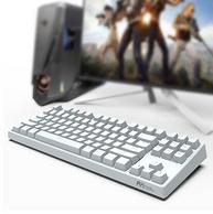 Plus会员、原厂Cherry轴: ROYAL KLUDGE 987 白色背光机械键盘 茶轴
