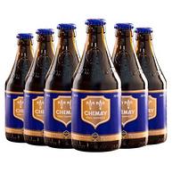 比利时进口 Chimay 智美 蓝帽精酿啤酒 330mlx6瓶x8件