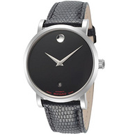 MOVADO 摩凡陀 Red Label 606114 男士 38mm Black Dial Leather 手表