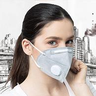 正常发货ing,0.3um防尘防雾霾:10片 保为康 带呼吸阀折叠式口罩