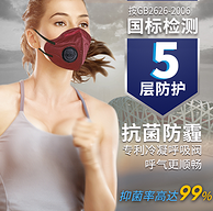 过滤99%+5层防护:伊藤良品 N99 口罩 5只