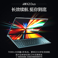 ASUS 华硕 灵耀X2 Duo 14英寸触控屏笔记本电脑( i7-10510U、16G、1TB、 MX250)