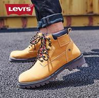 春节也发货,Levi's/李维斯 男士 高帮休闲工装鞋 马丁靴