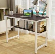 Plus专享,帅力 钢木带书架电脑桌100x50x74cm