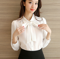 多码、多色可选:芷娜 雪纺印花衬衫