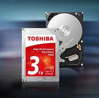 垂直PMR,SATA3接口:东芝 P300系列 3TB 3.5寸台式机硬盘 7200转64MB缓存