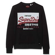 Superdry/极度干燥 男士 纯棉复古标志圆领运动衫
