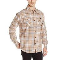 美国3大大牛仔品牌之一,100%纯棉:Wrangler 男士 长袖法兰绒衬衫