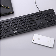 大牌+高颜值:Aigo 爱国者 复古朋克键盘W916A