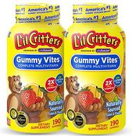 6日0点: L'il Critters丽贵 复合多种维生素小熊软糖 190粒x2瓶装