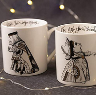 世界最大艺术博物馆出品,V&A 爱丽丝梦游仙境 马克杯套装