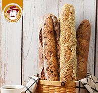 台湾健康烘焙第一品牌 全麦无糖无油:270gx3件 马可先生 面包