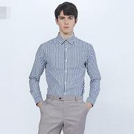 韩国百家好旗下:MR classic 男士 20年新款 长袖条纹衬衫