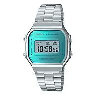 3倍差价,30米防水:卡西欧 时尚潮流复古方形电子手表 A168WEM-2JF 银色款