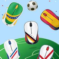 罗技 M238 世界杯球迷典藏版 无线鼠标 巴西版