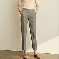 Amii 女士休闲直筒烟管裤 3色