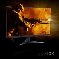 4K+100%sRGB:宏碁 27英寸 IPS液晶電腦顯示器 VG270K