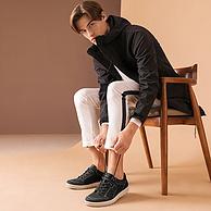 限UK9码,ECCO 爱步 Ennio 恩尼奥系列 男士真皮休闲鞋 prime直邮到手557元(天猫990元)