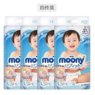 9日10点:日本原装进口,L54片x4包装,moony 尤妮佳 婴儿纸尿裤