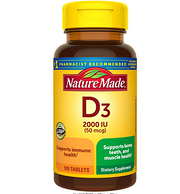 預防佝僂病 促進鈣吸收:Nature Made 天維美 維生素D3 100粒