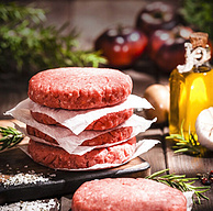 自制汉堡:750g(5片)x4件 HUADONG 华东 美国安格斯牛肉饼