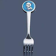 凑单好物,亚马逊销冠!2件 日本 高山工業 圆形熊猫儿童叉子