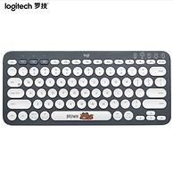 羅技 LINE FRIENDS系列-布朗熊 多設備藍牙鍵盤 K380