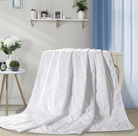 可机洗,富安娜家纺 舒暖 夏季薄款 七孔抗菌被芯空调被 203x229cm