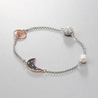 Swarovski 施华洛世奇 蓝色珍珠星月手链 5490934