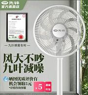 9葉大風量 秒殺5/7葉片:Singfun 先鋒 落地扇 DLD-D17